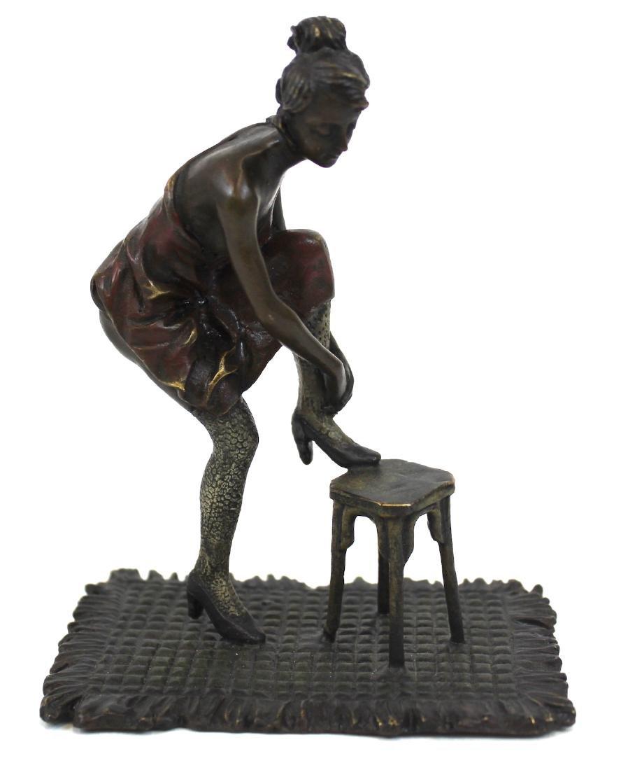 Bronze Figure. Girl on a Stool - 2