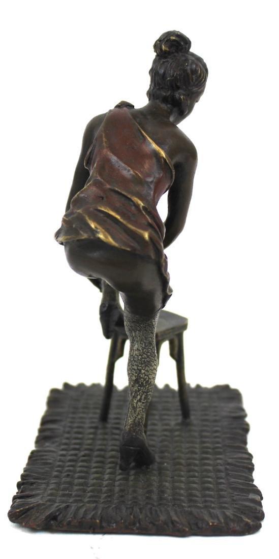 Bronze Figure. Girl on a Stool - 3