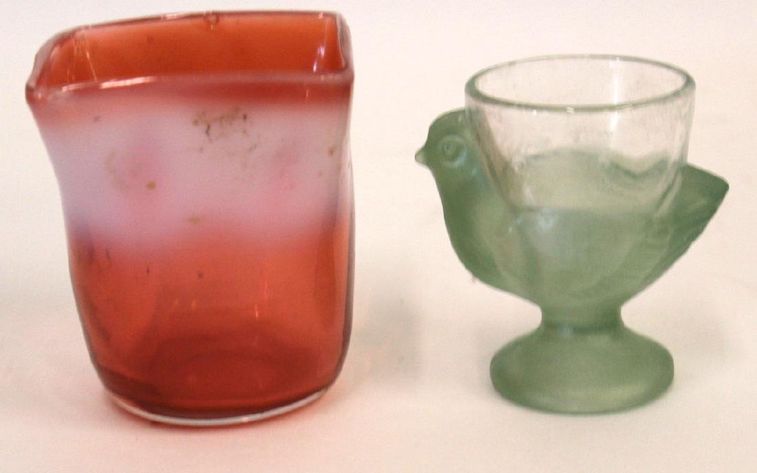 Art Glass Egg Cup and Art Glass Vase.