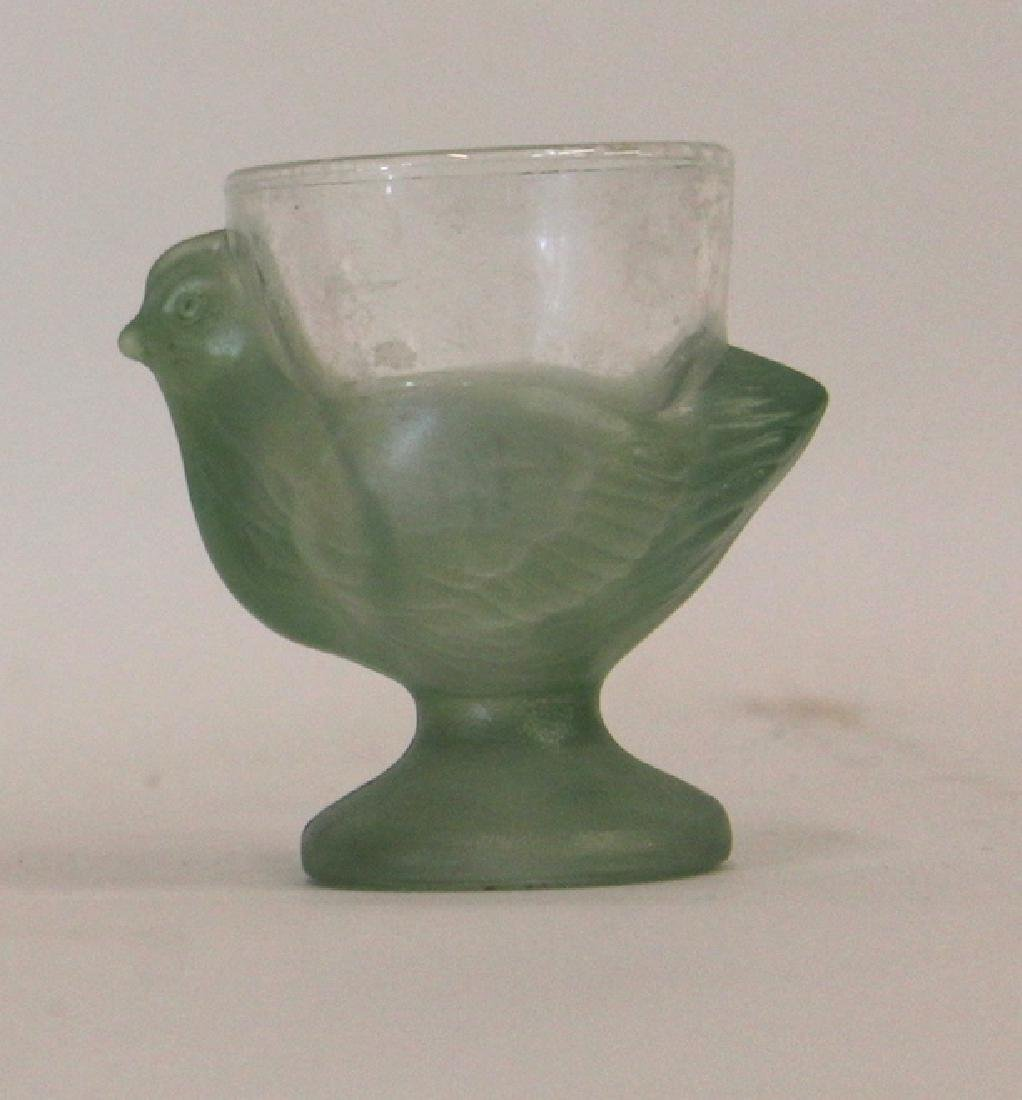 Art Glass Egg Cup and Art Glass Vase. - 3