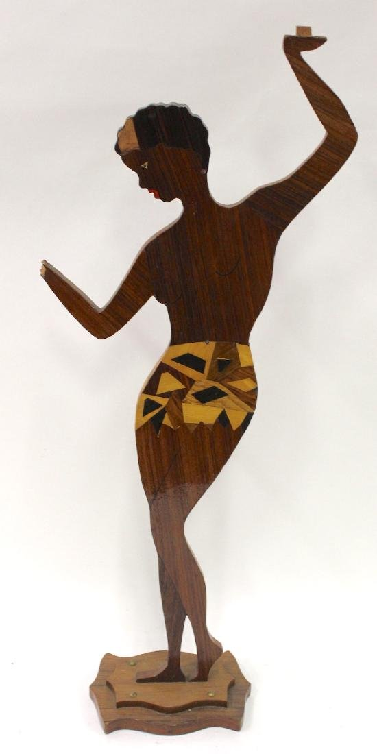"Carved Wood ""Josephine Baker"" Stand - 2"