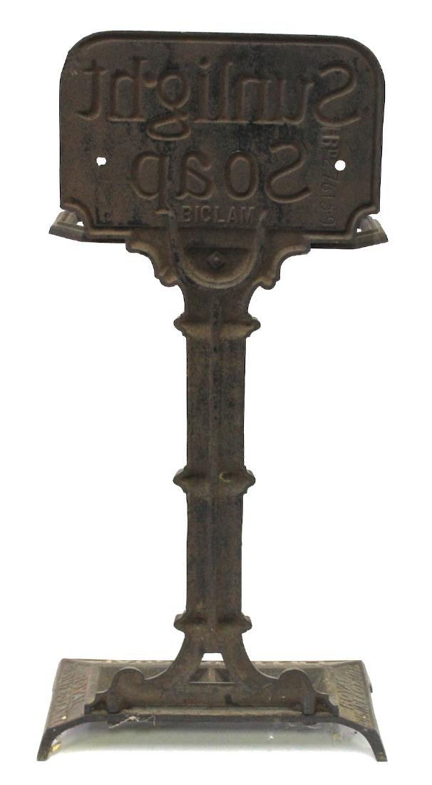 Sunlight Soap Cast Iron Advertising Stand - 5