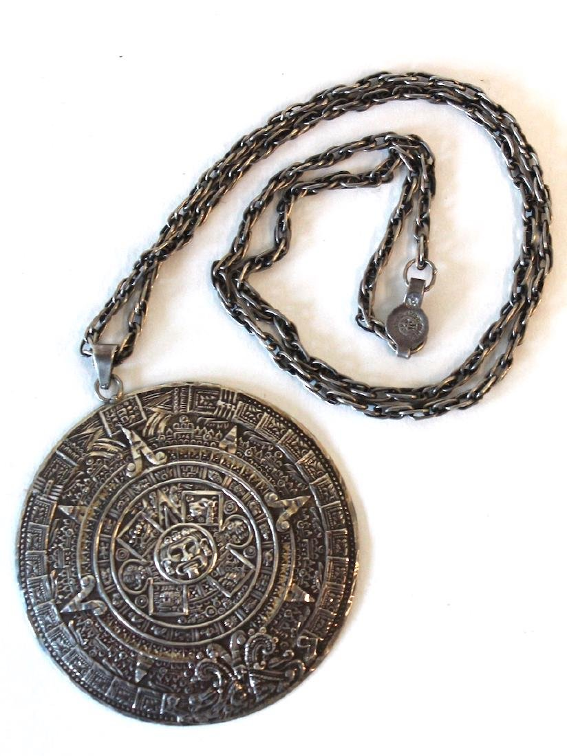 Mexican Sterling Silver Pendant and Chain