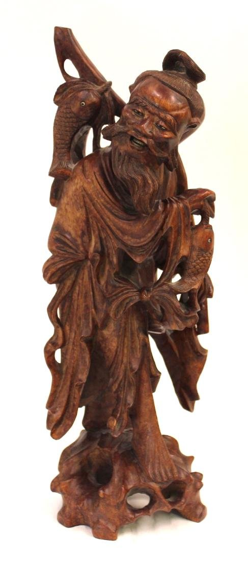 19th C. Carved Oriental Figure