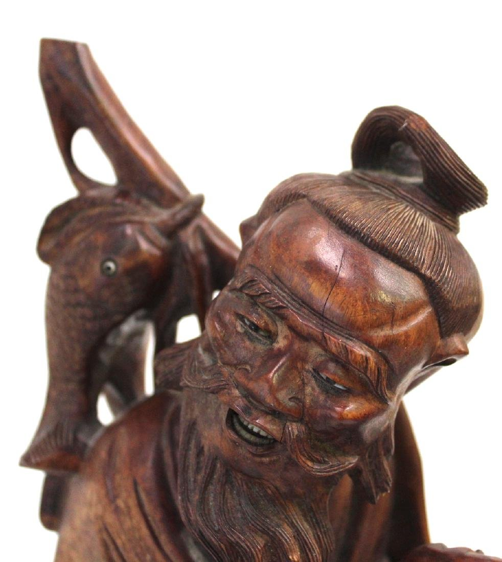 19th C. Carved Oriental Figure - 3