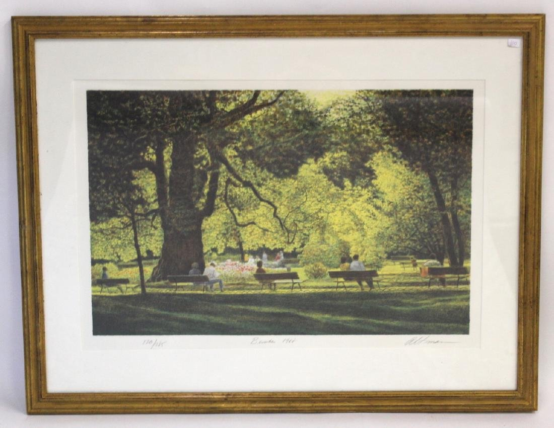 "Altman. Ltd. Ed. Litho. ""Benches"""