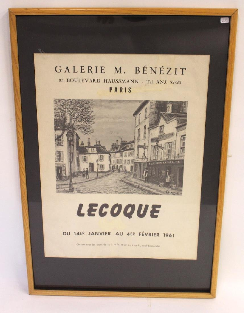 LeCoque Poster . French. 1961