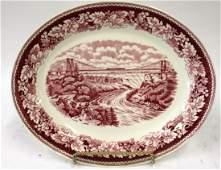 Laughlin Platter. Train Over Niagra Falls