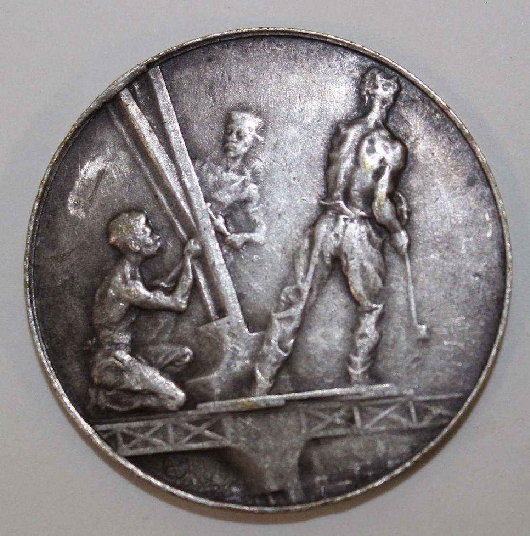 Eiffel Tower Sterling Silver Medallion