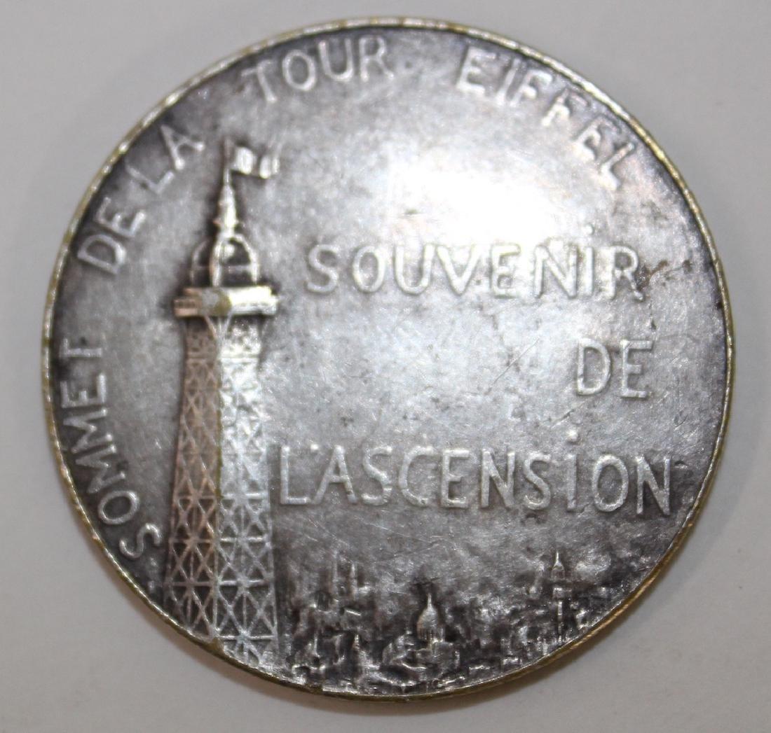 Eiffel Tower Sterling Silver Medallion - 2