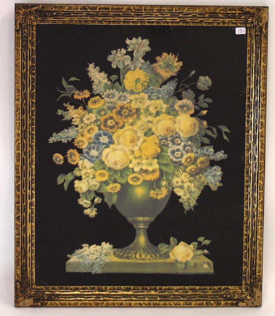 19th C. Reverse Painting on Glass