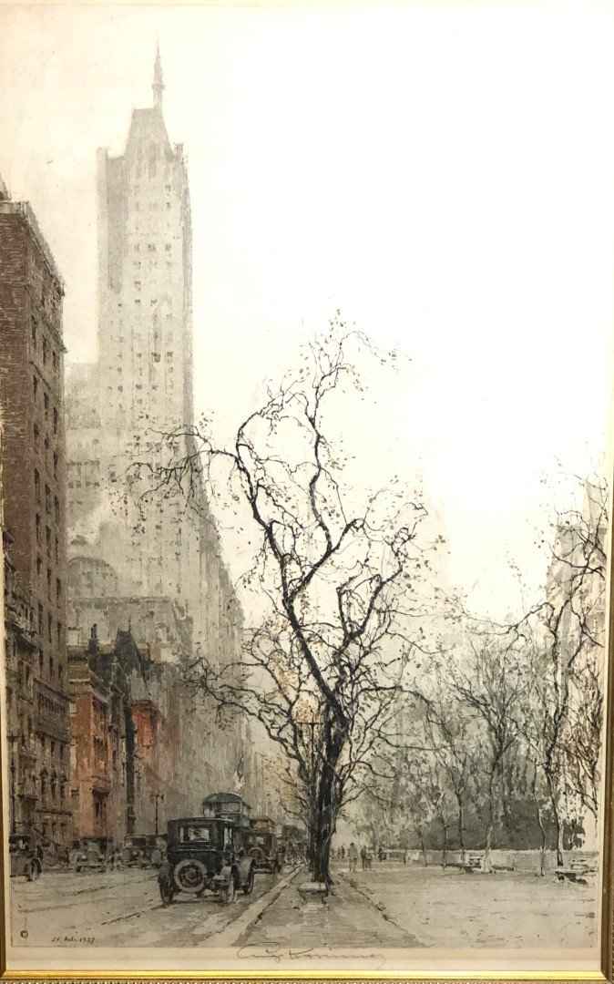 Luigi Kasimir; Etching and Aquatint - Fifth Avenue - 2