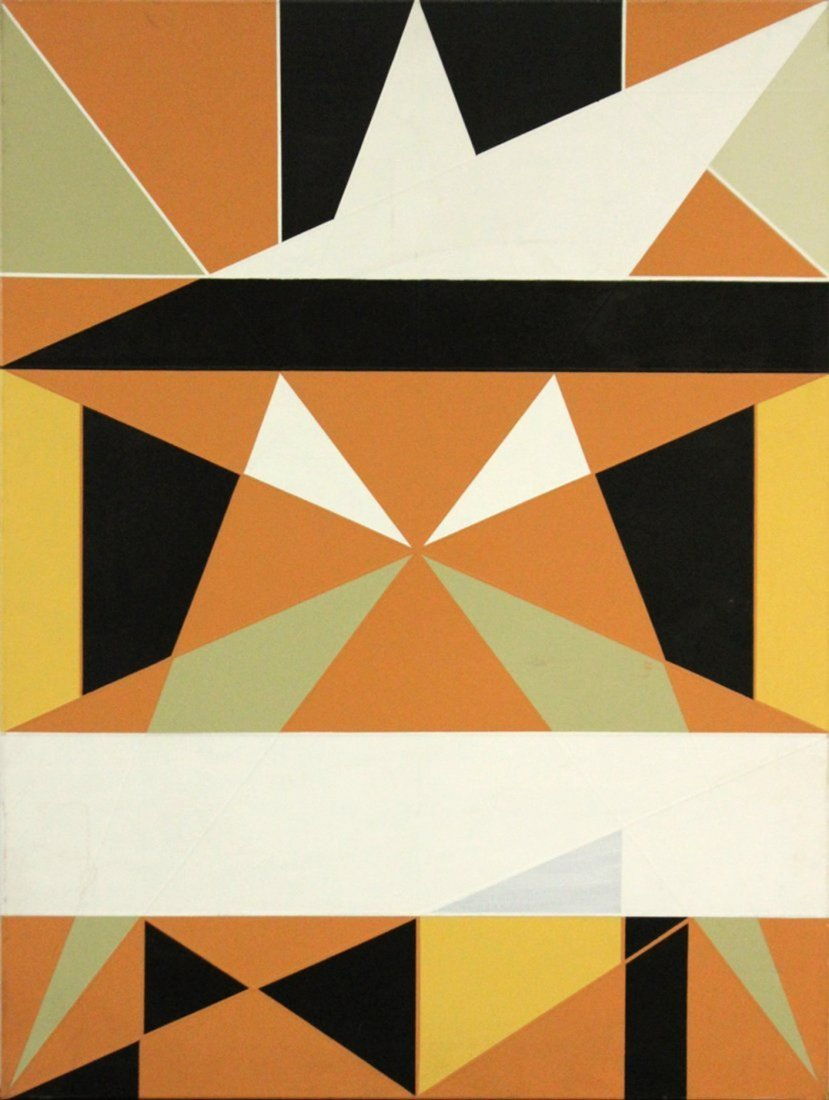 Balcomb Greene(attributed to); 20thC. Oil Abstract - 2