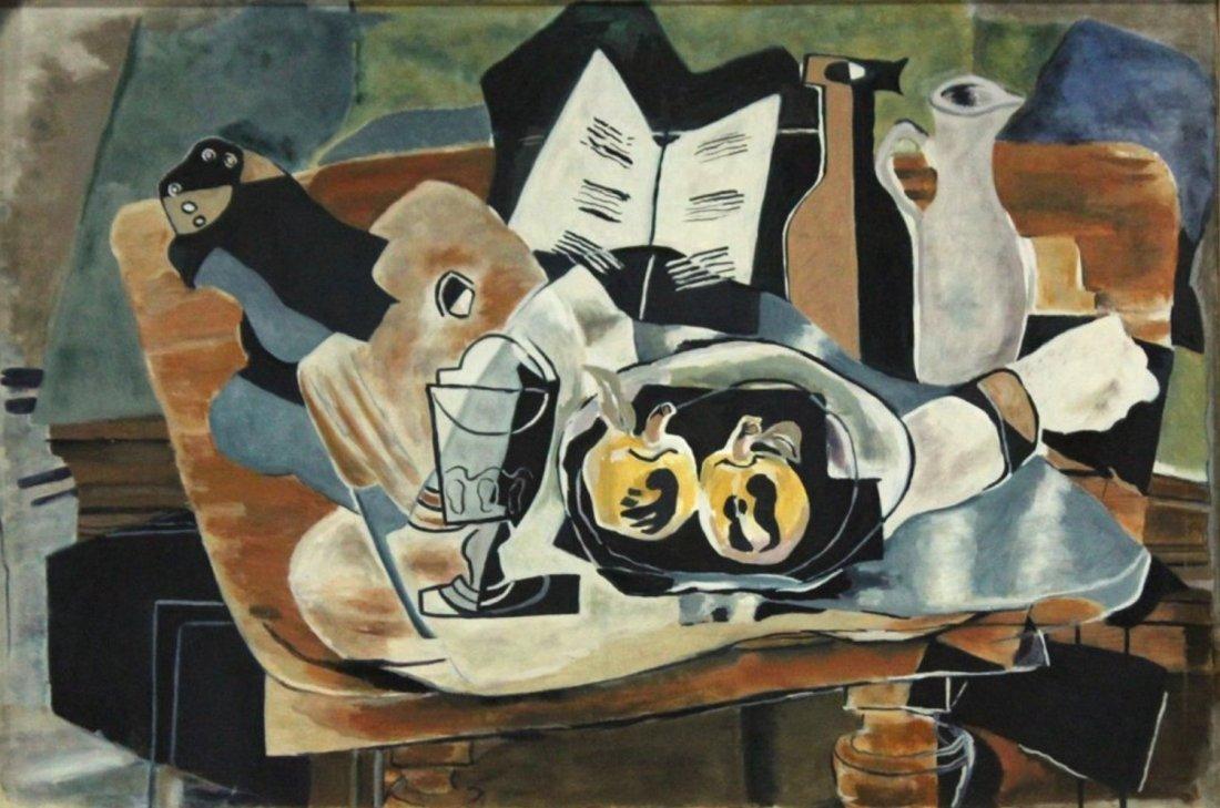20thC. French Modernist Oil - Cubist Still Life - 2