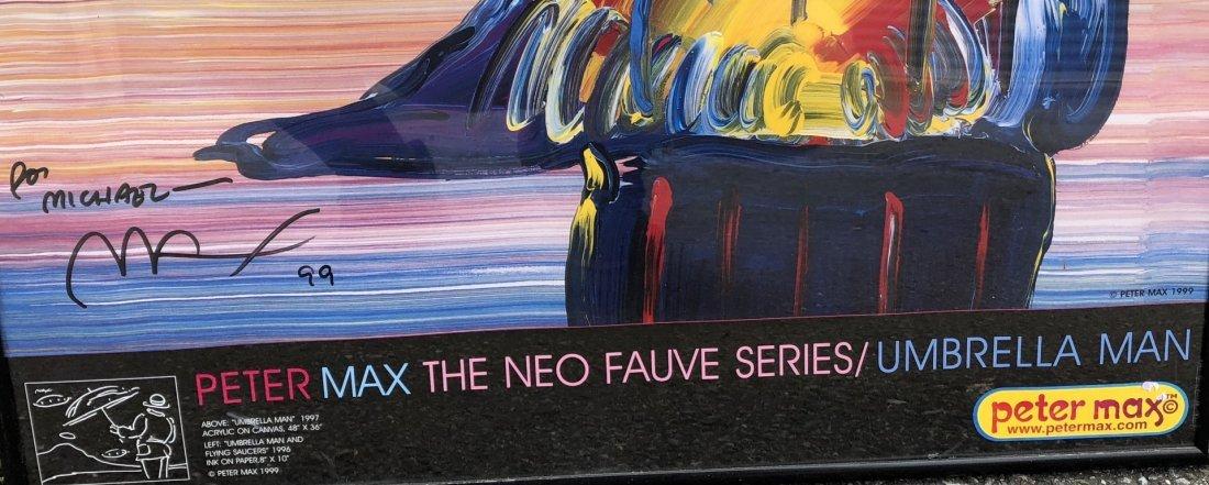 Peter Max; Framed Umbrella Man Poster - 3