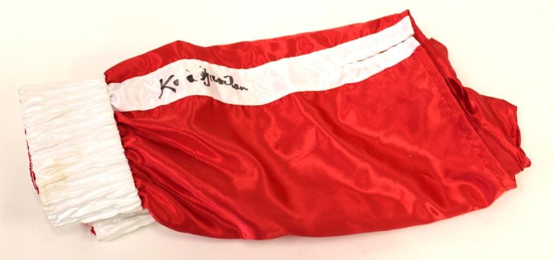 Kid Gavilan Signed Boxing Shorts - 2