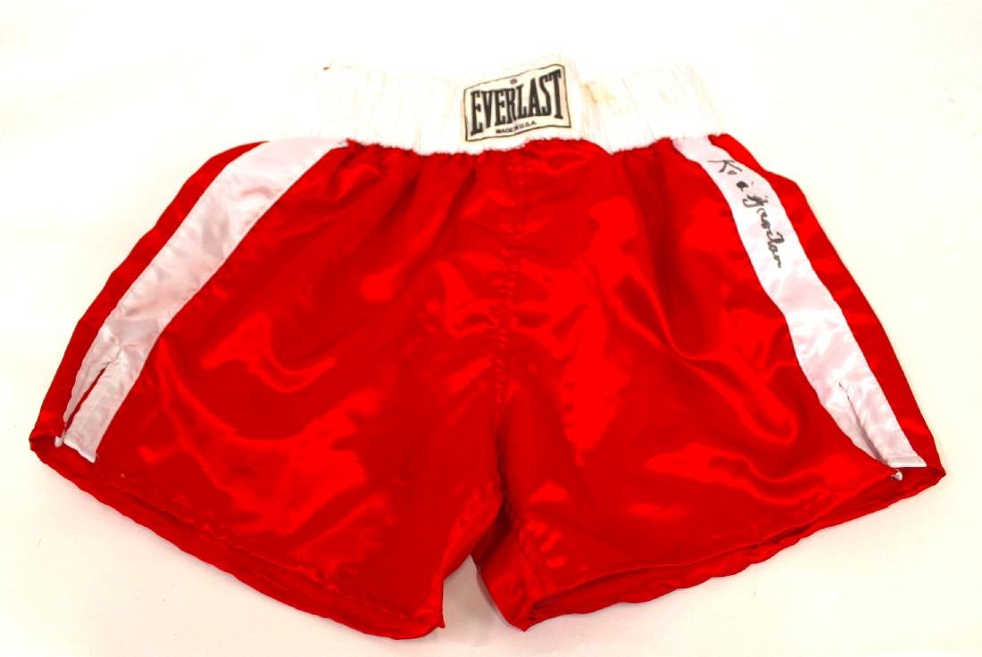 Kid Gavilan Signed Boxing Shorts - 3