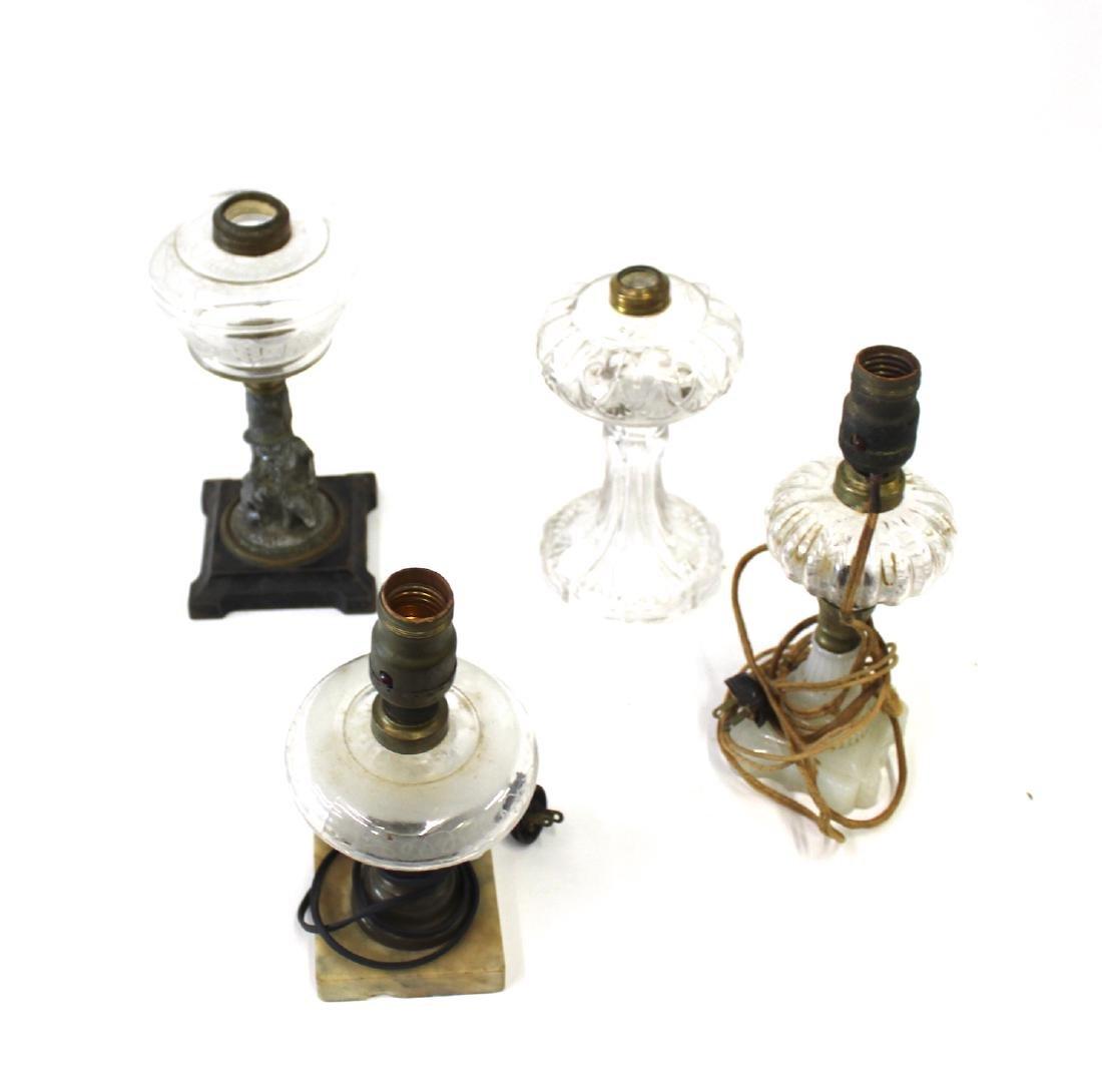 American Pattern Glass Oil Lamps (4)
