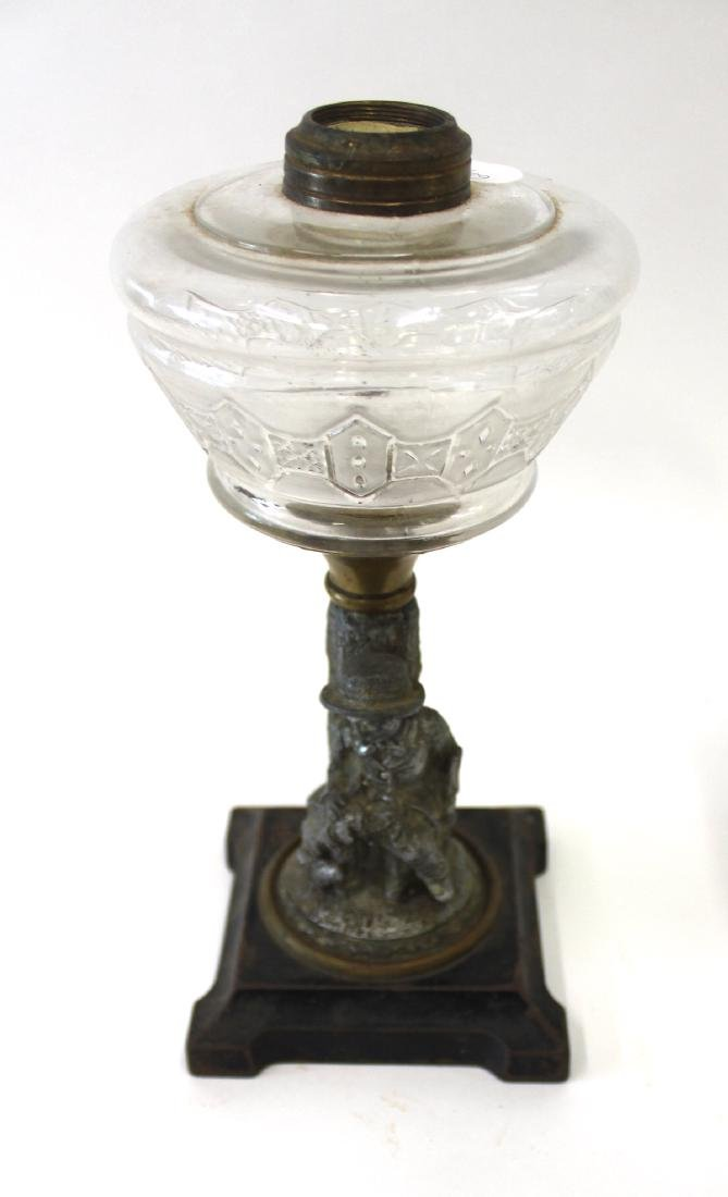 American Pattern Glass Oil Lamps (4) - 3