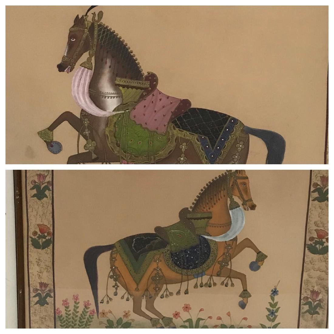 Early Horse Paintings on Fabric (2)