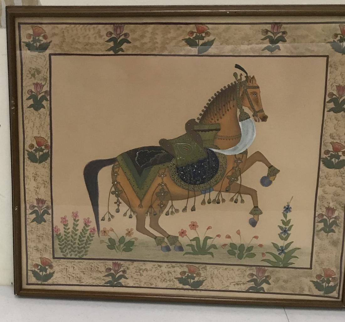 Early Horse Paintings on Fabric (2) - 2
