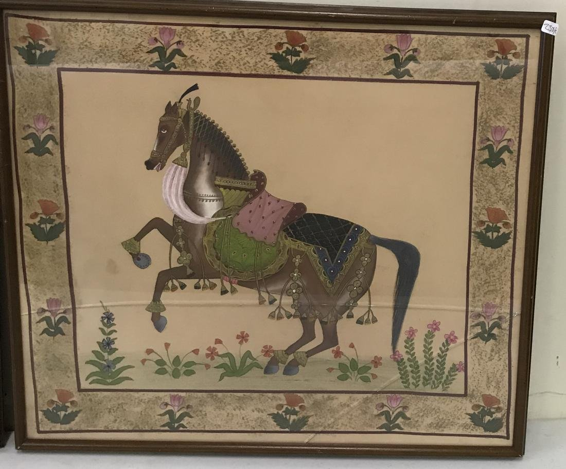 Early Horse Paintings on Fabric (2) - 3