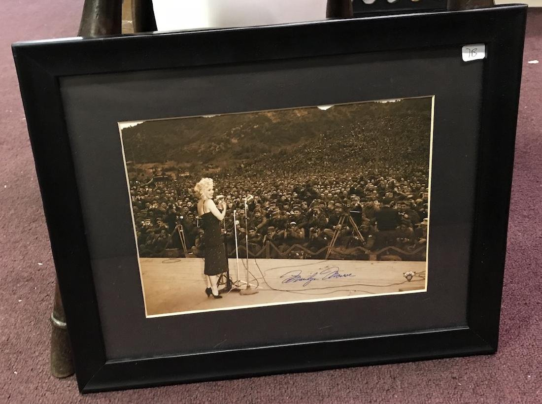"""Marilyn Sings For the Troops"" Litho"