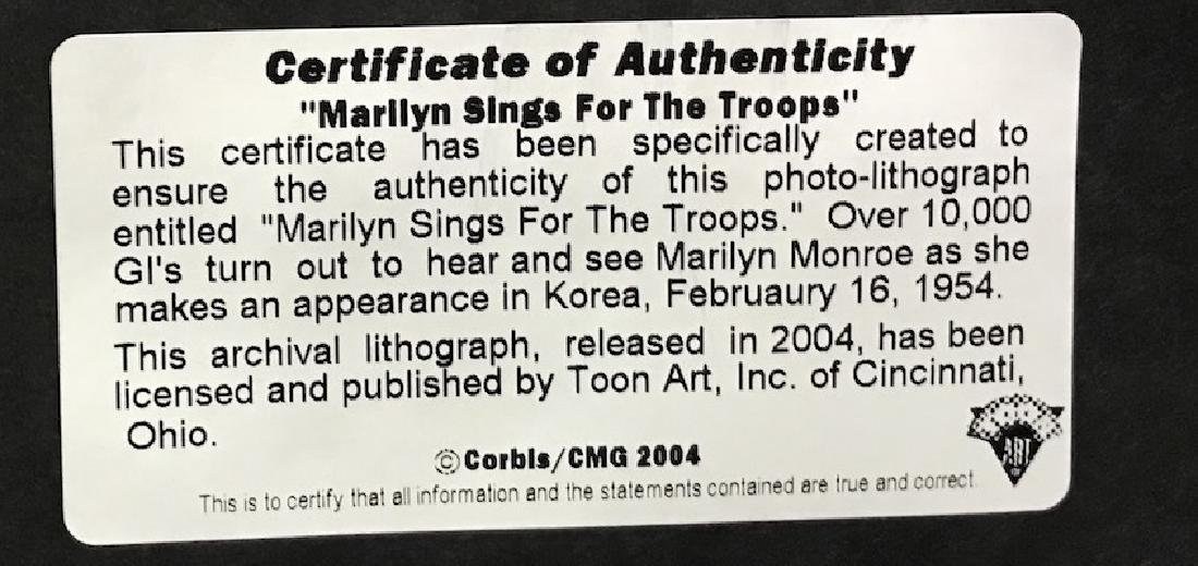 """Marilyn Sings For the Troops"" Litho - 3"