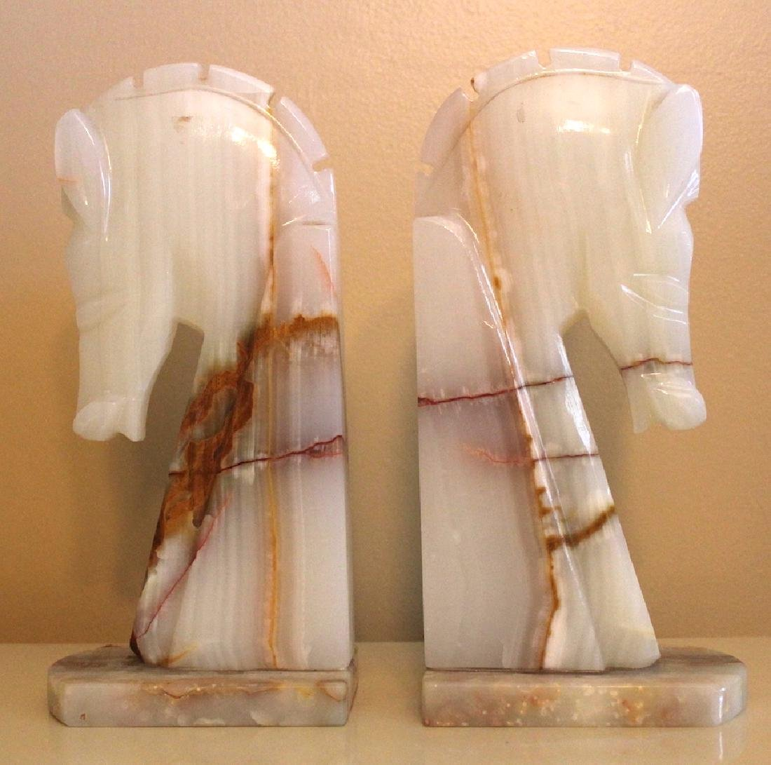 Pr. Onyx Horse Bookends.(2)