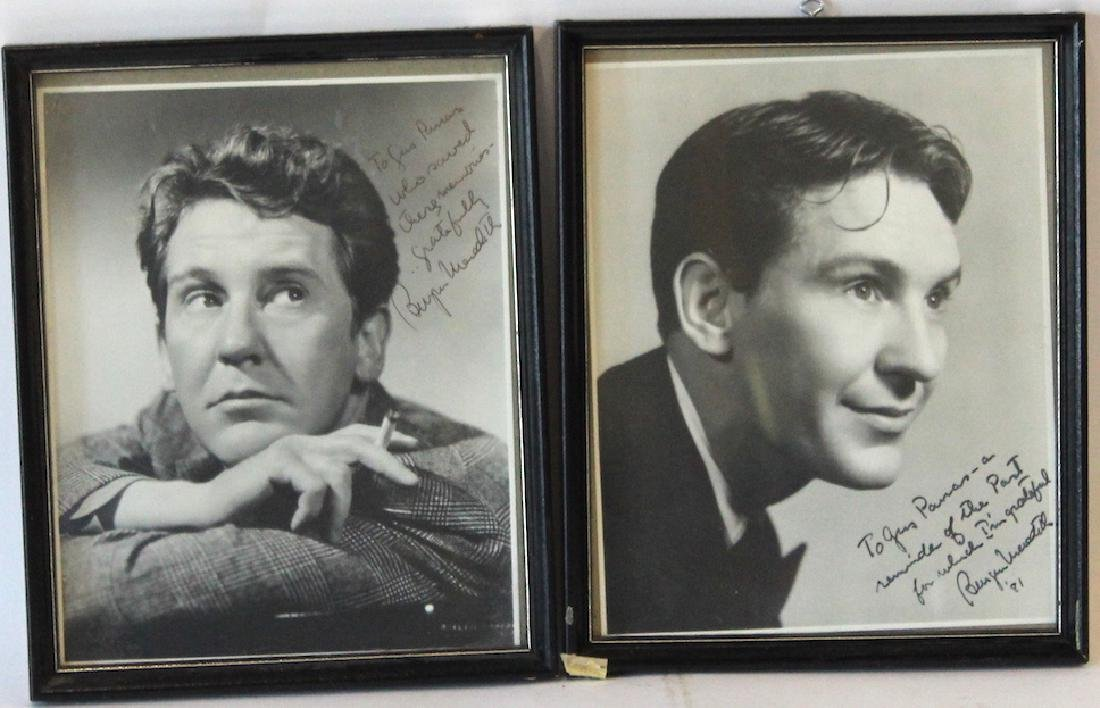 Burgess Meredith Photographs. Signed (2)