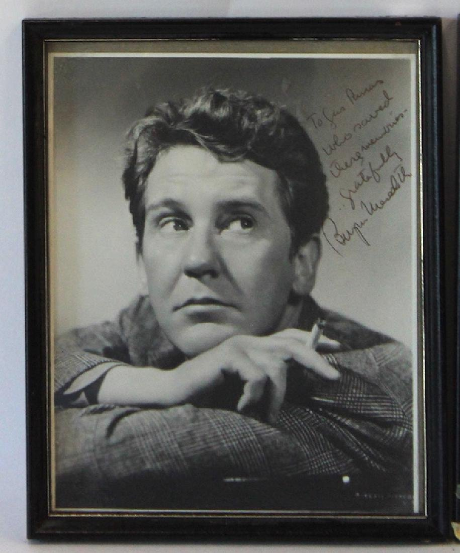 Burgess Meredith Photographs. Signed (2) - 3