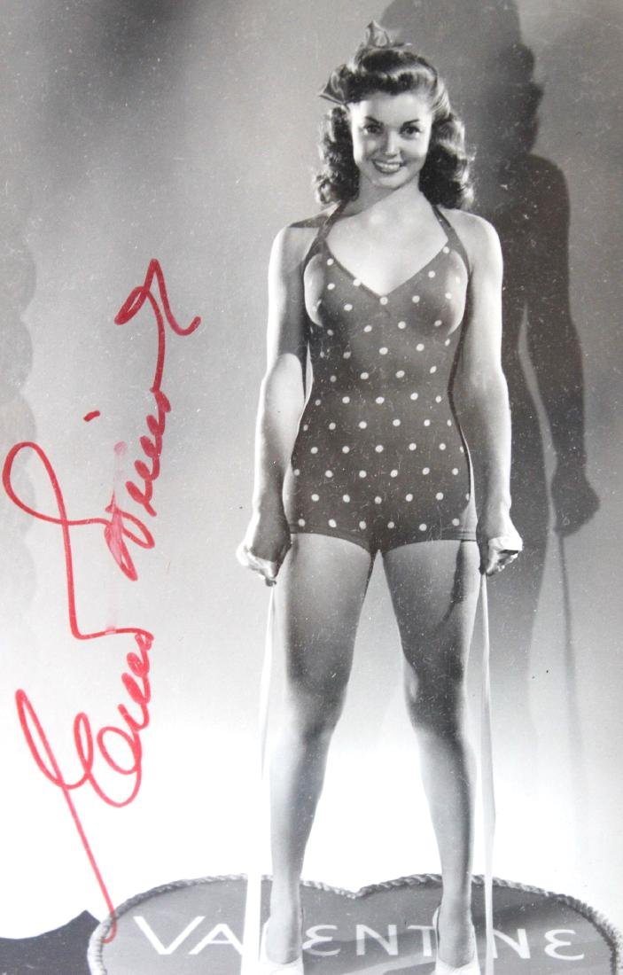 Esther Williams Valentine Photograph. Signed - 2