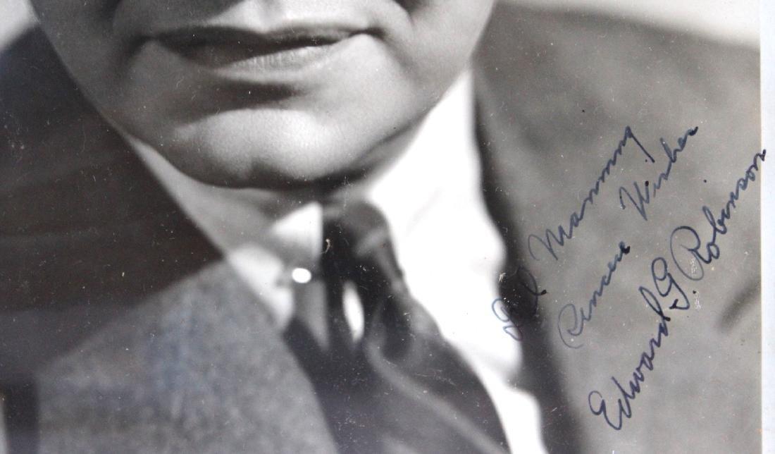 Edward G. Robinson Photograph. Signed - 2