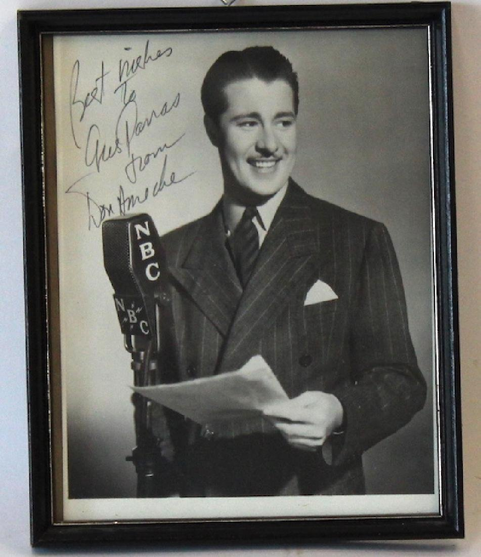 Don Ameche Photograph. Signed