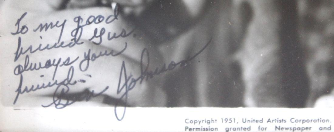 Ben Johnson Publicity Photograph Signed - 2