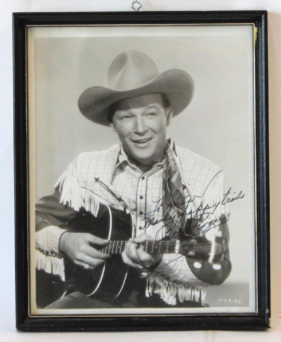 Roy Rogers Photograph Signed