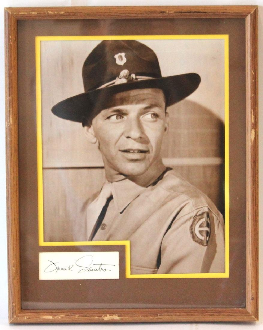 Frank Sinatra Photograph With Cut Signature