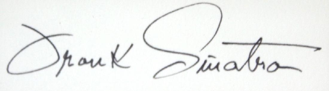 Frank Sinatra Photograph With Cut Signature - 2