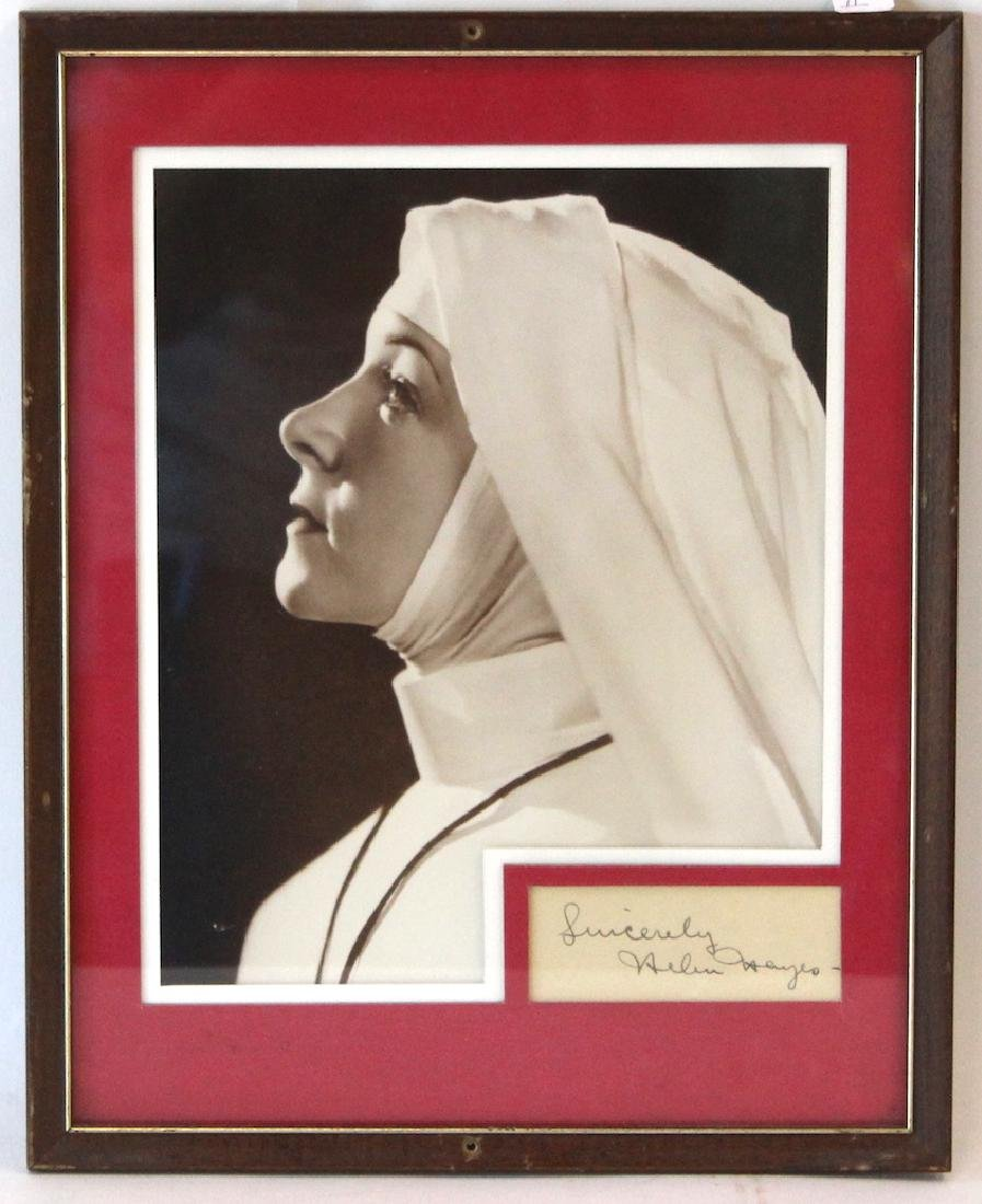 Helen Hayes Photograph with Cut Signature
