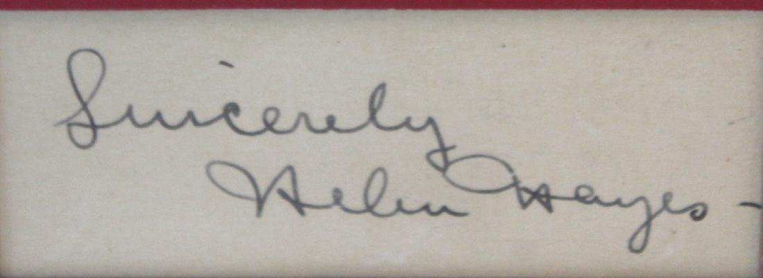 Helen Hayes Photograph with Cut Signature - 2