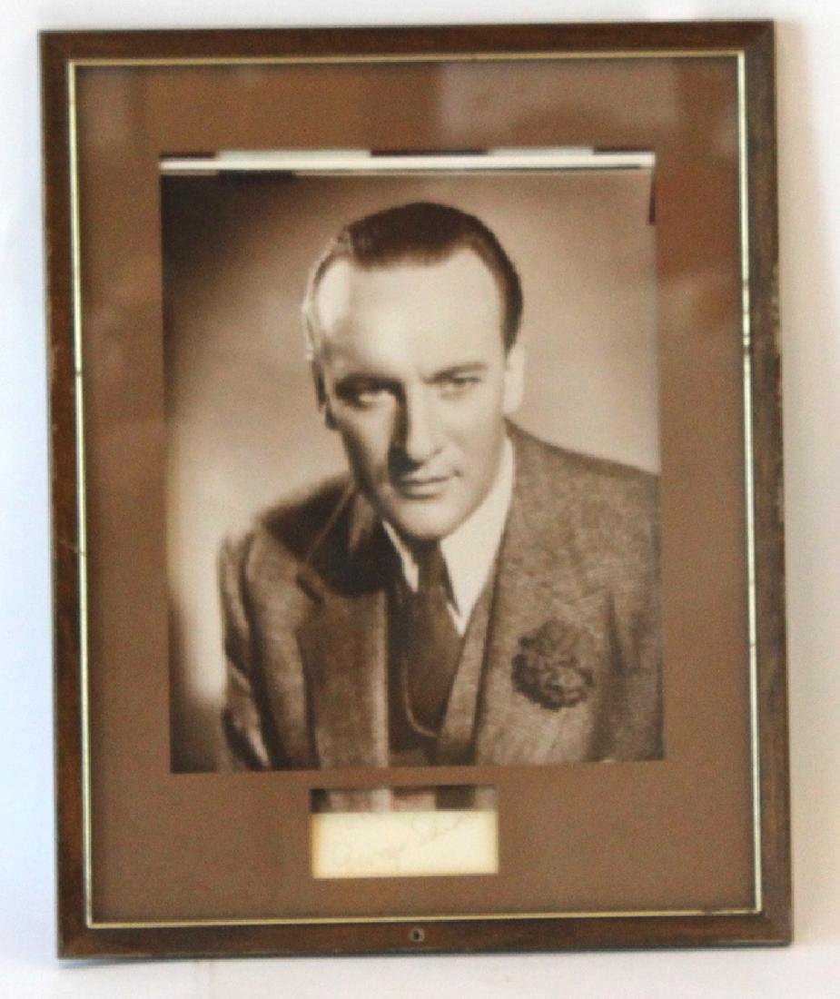 George Sands Photograph with Cut Signature