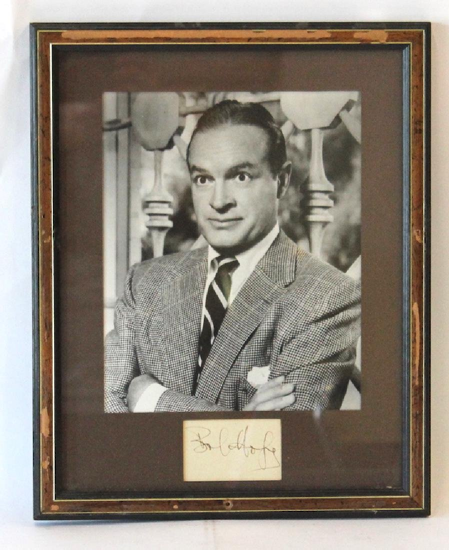 Bob Hope Photograph with Cut Signature