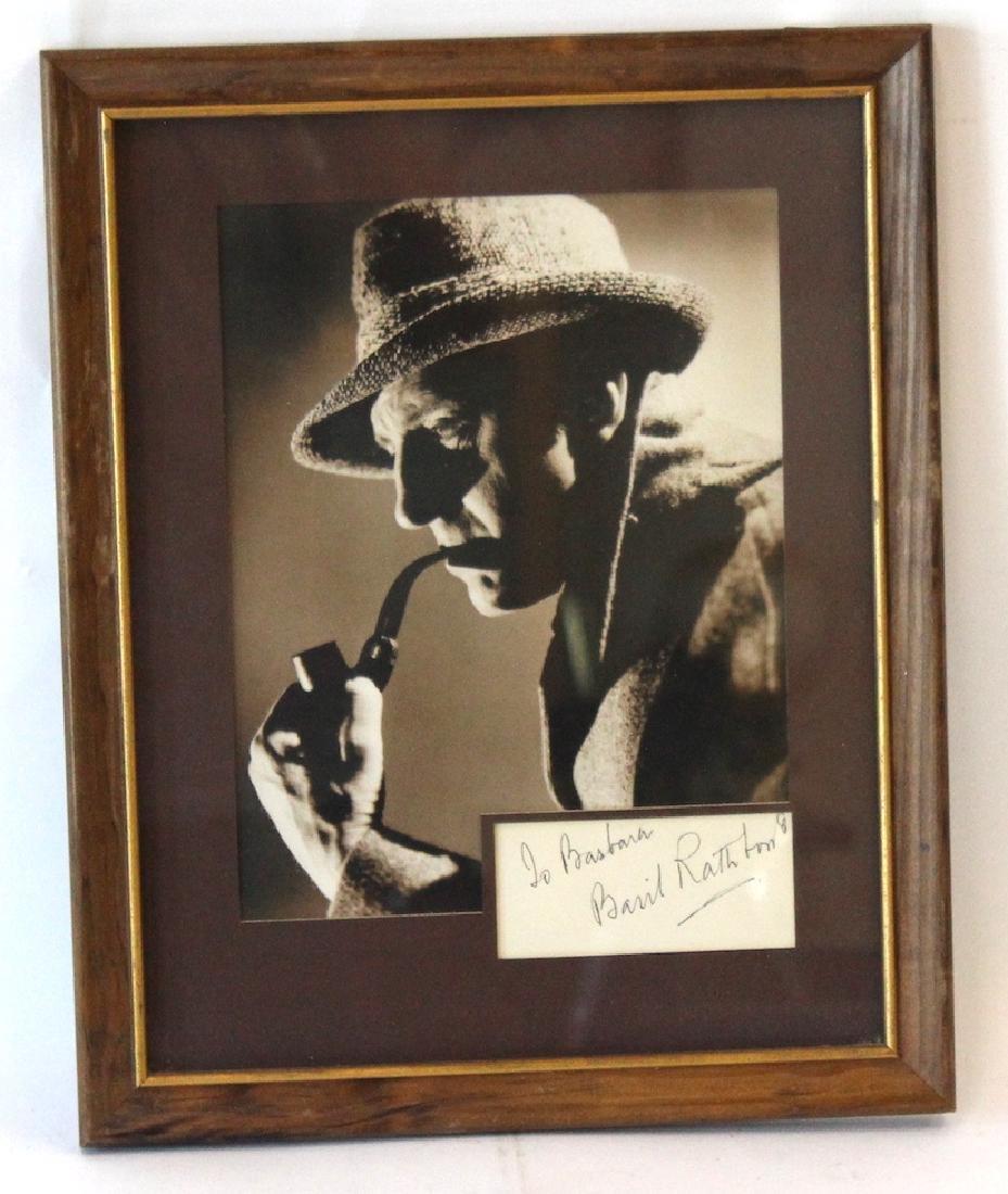 Basil Rathbone Photograph with Cut Signature