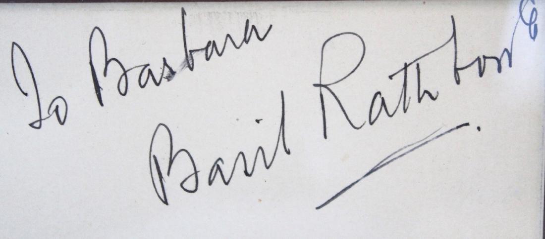Basil Rathbone Photograph with Cut Signature - 2