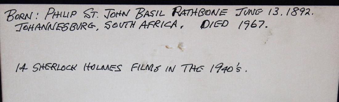 Basil Rathbone Photograph with Cut Signature - 3