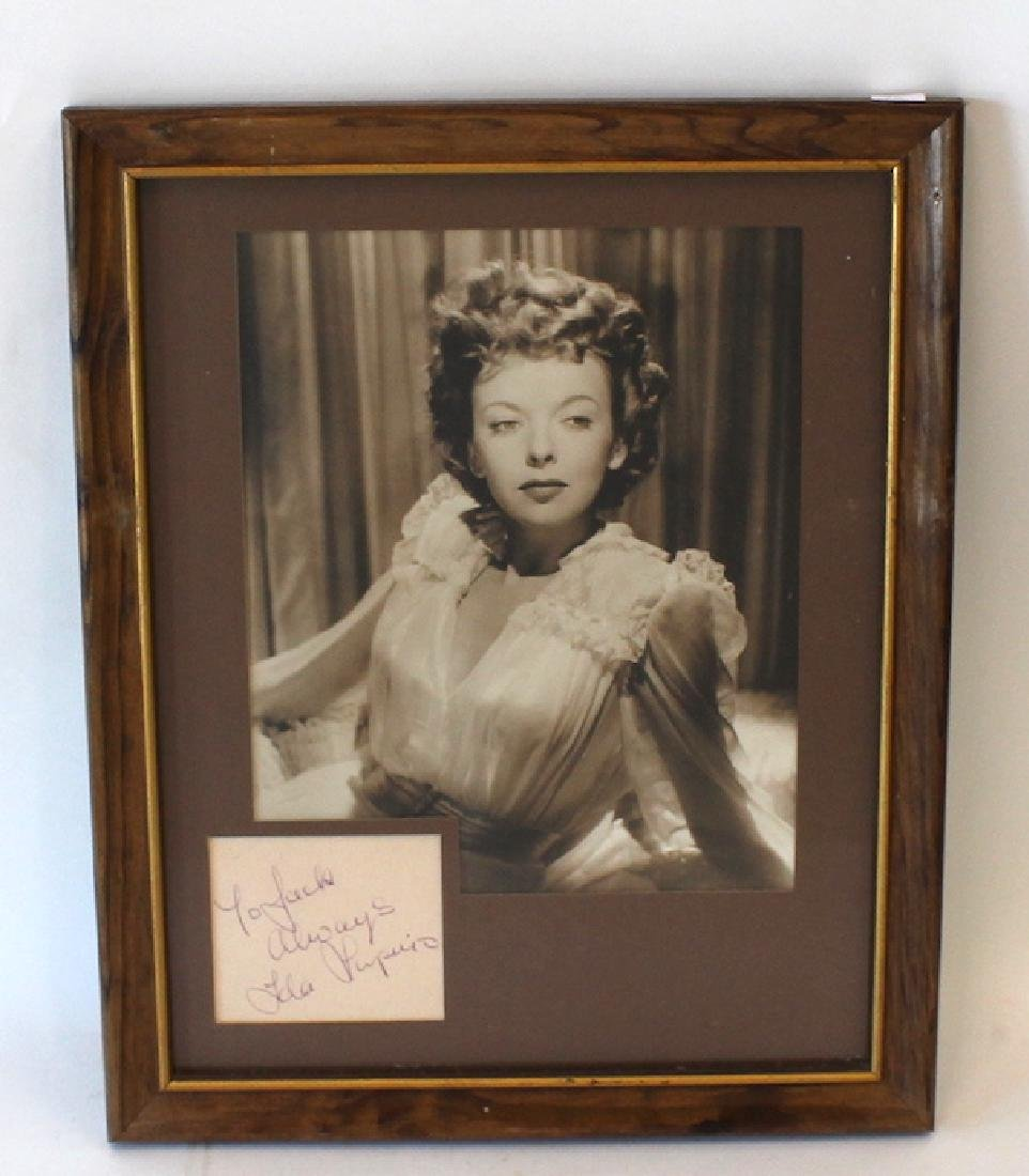 Ida Lupino Photograph with Cut Autograph
