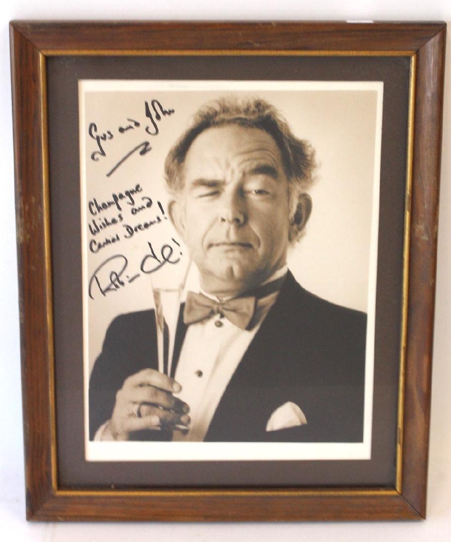 Robin Leach Signed Photograph
