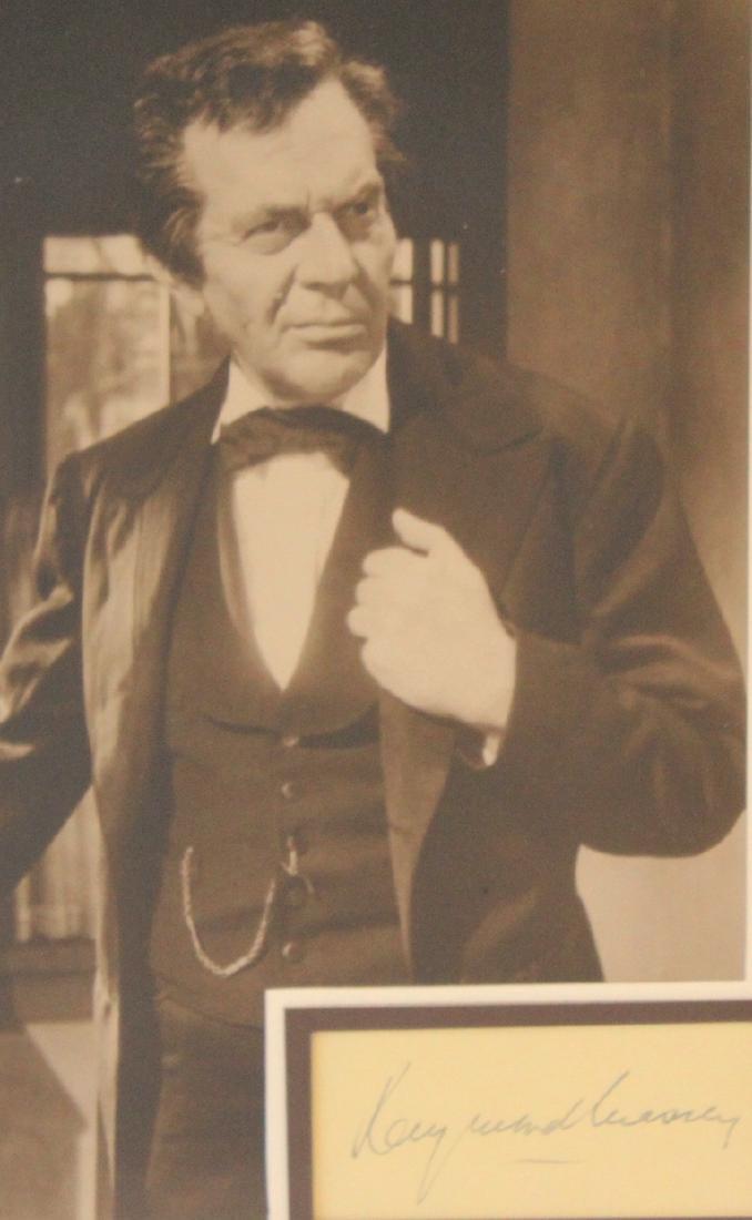 Raymond Massey Photograph with Cut Signature - 2