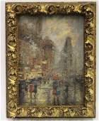 C. Hoffbauer. Oil. NY Street Scene. Sgd.