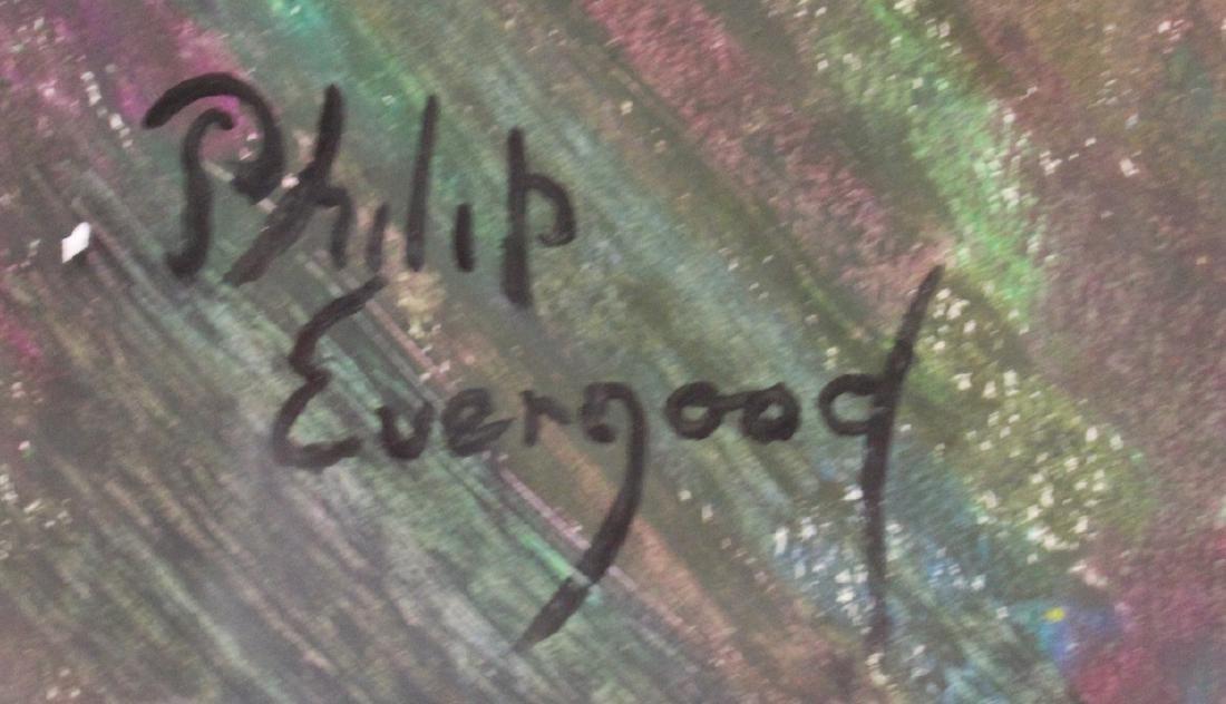 Philip Evergood. Mixed Media. L'Amazone. Signed - 2